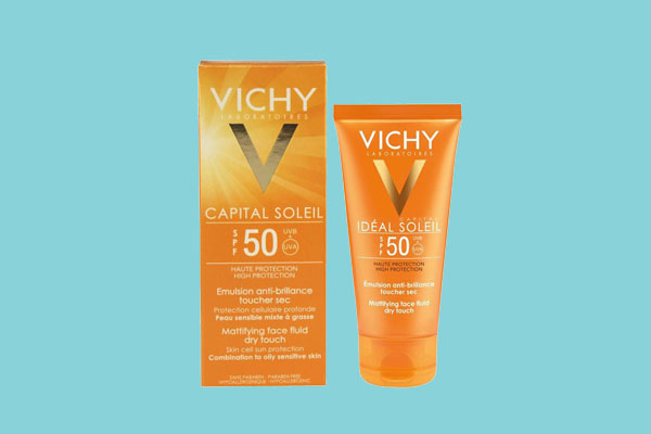 Kem chống nắng Vichy SPF 50 PA+++ ideal Soleil Mattifying Face Fluid Dry touch