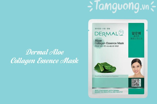 Mặt nạ Dermal lô hội - Dermal Fresh Aloe Collagen Essence Mask