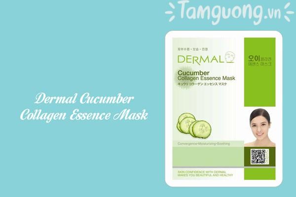 Mặt nạ Dermal dưa chuột - Dermal Cucumber Collagen Essence Mask