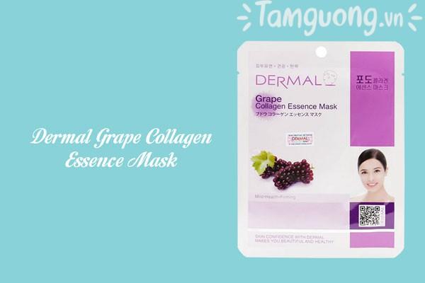 Mặt nạ chiết xuất từ nho tươi - Dermal Grape Collagen Essence Mask