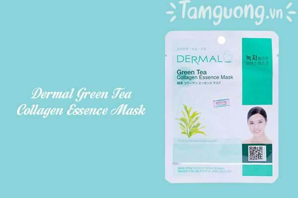 Mặt nạ trà xanh - Dermal Green Tea Collagen Essence Mask