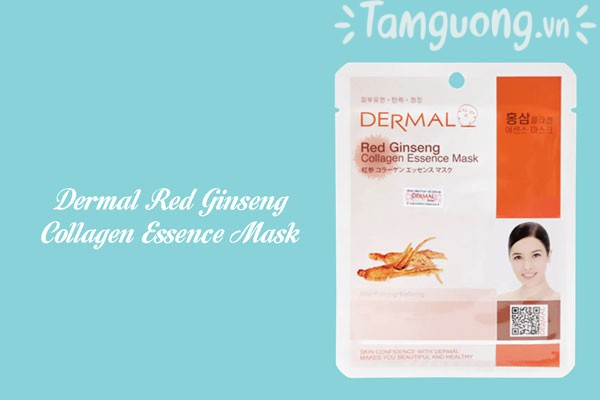 Mặt nạ Dermal hồng sâm - Dermal Red Ginseng Collagen Essence Mask
