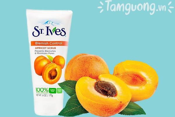 Thành phần kem tẩy tế bào chết St.Ives mơ Blemish Control Apricot Scrub