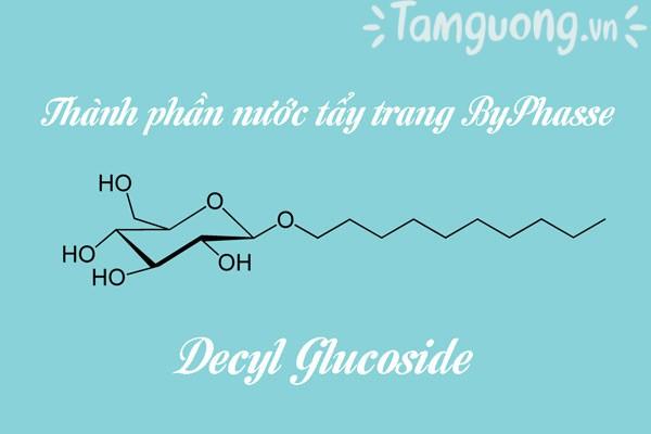 Thành phần nước tẩy trang ByPhasse: Decyl Glucoside