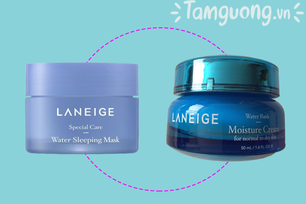 So sánh Laneige Water Bank Gel Cream vs Sleeping Mask