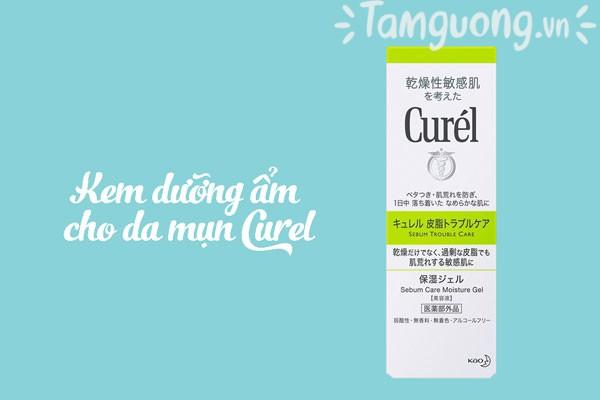 Kem dưỡng ẩm cho da mụn Curel Sebum Trouble Care Moisture Gel