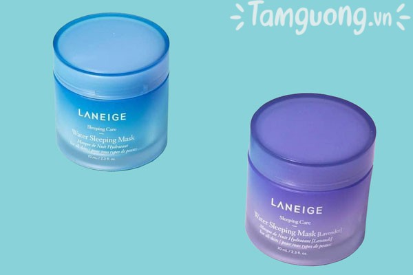 So sánh mặt nạ ngủ Laneige Water Sleeping Mask màu xanh và tím