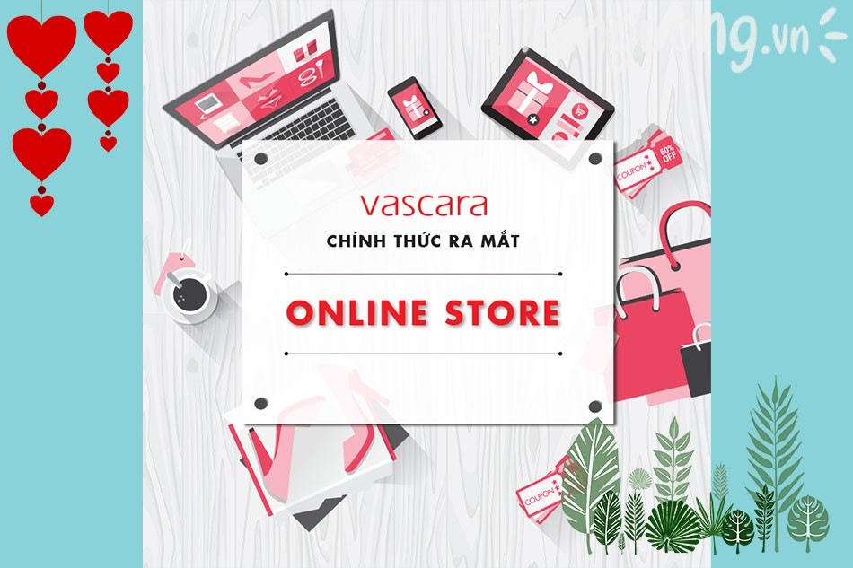 Mua hàng trực tuyến trên Website Vascara