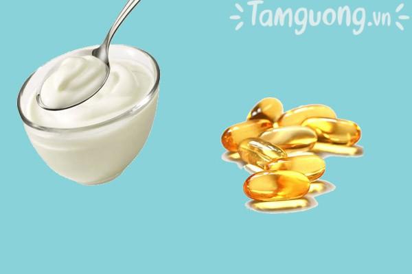 Mặt nạ vitamin E và sữa không đường
