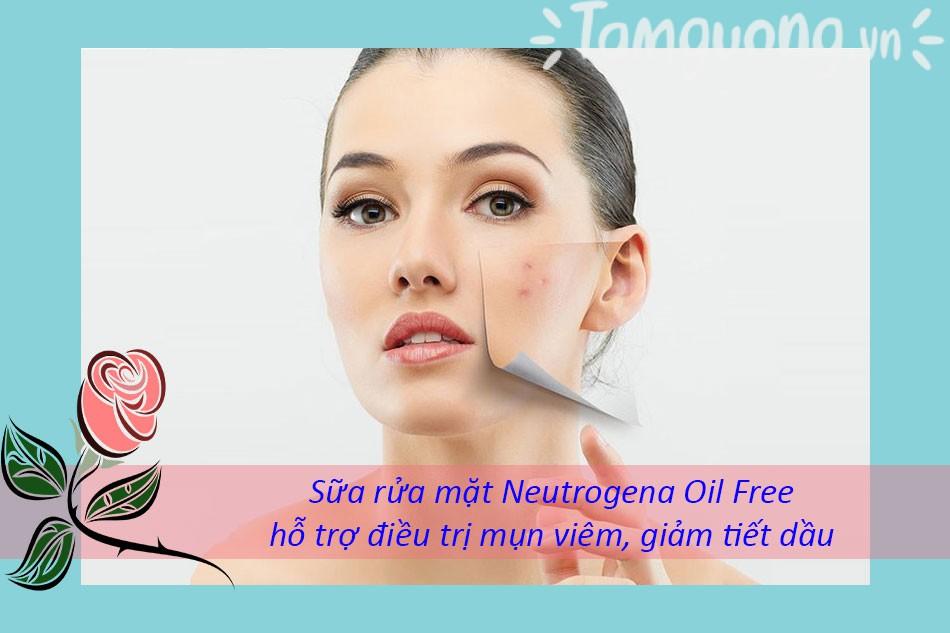 Công dụng của sữa rửa mặt Neutrogena Oil-Free Acne Wash