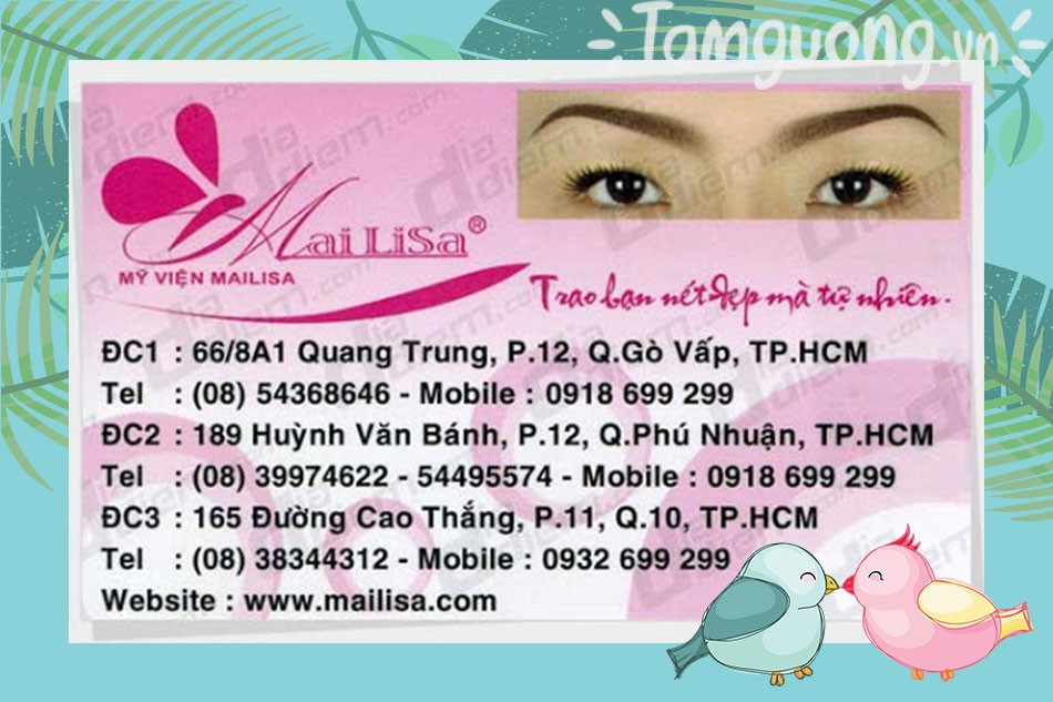 Địa chỉ của Mailisa tại thành phố Hồ Chí Minh