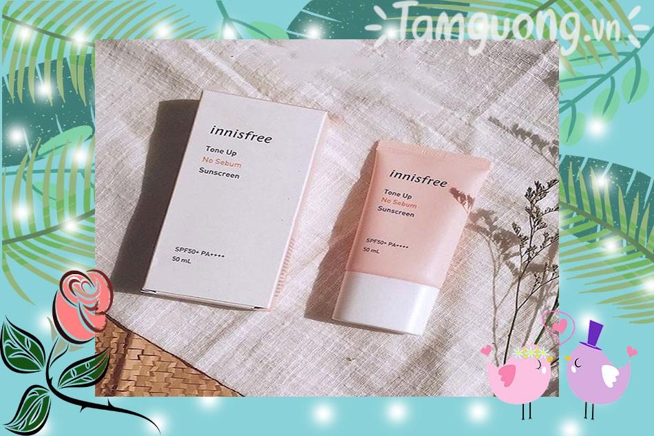 Kem chống nắng Innisfree Tone Up No Sebum Sunscreen Cream SPF35 PA+++