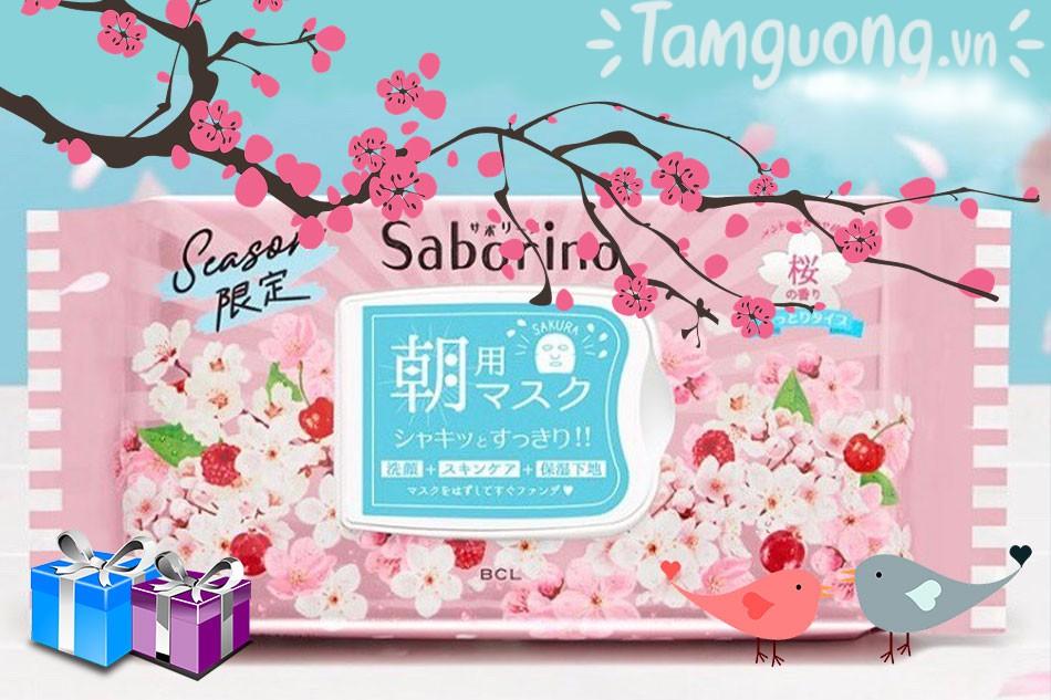 Mặt nạ Saborino Morning Mask hương hoa anh đào Limited Edition