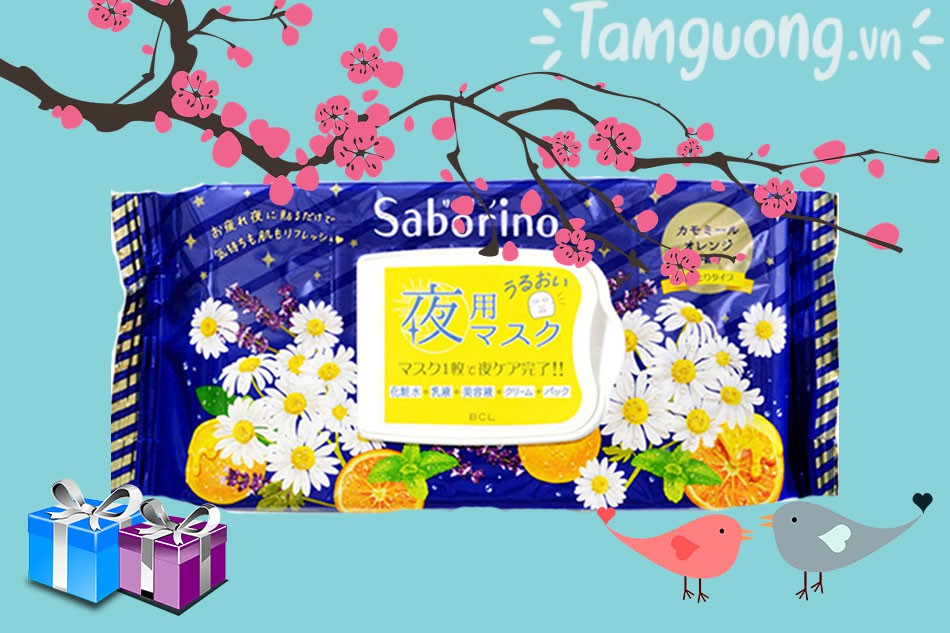 Mặt nạ Saborino ban đêm- Saborino Goodnight Sheet Mask
