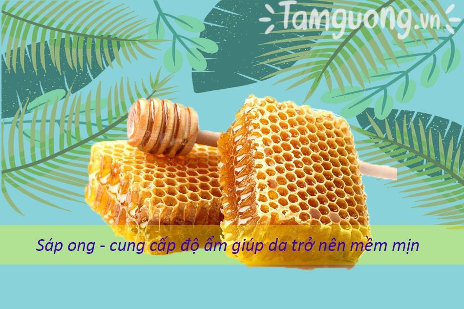 Sáp ong chứa nhiều dưỡng chất có vai trò quan trọng đối với da