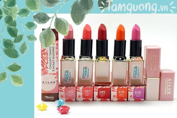 Son lì Nhật Bản cao cấp Naris Cosmetic Ailus Smooth Lipstick Long Lasting