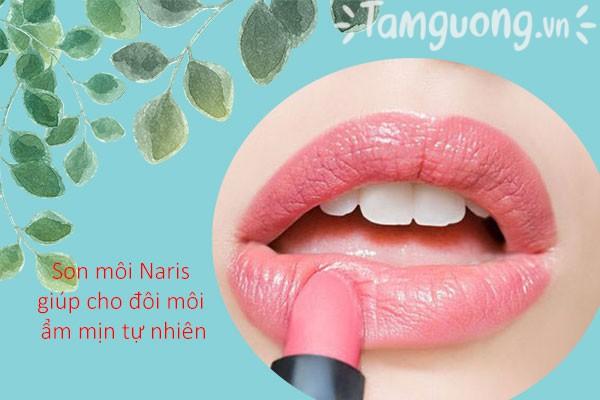 Son môi Naris cho bạn đôi môi hồng mịn tự nhiên