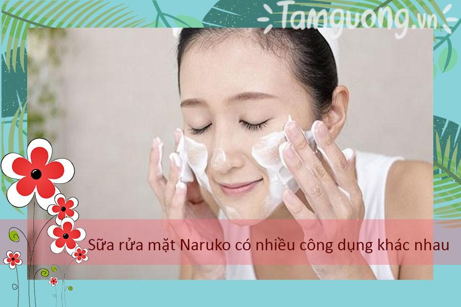 Sữa rửa mặt Naruko có nhiều công dụng khác nhau