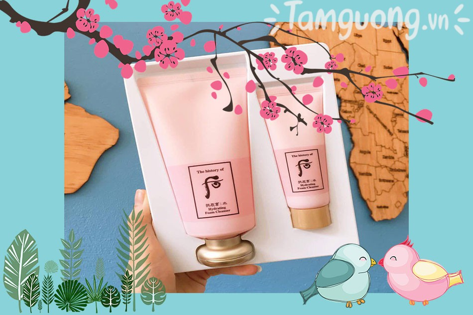 Sữa rửa mặt thảo dược phương Đông Whoo hồng Hydrating Foam Cleanser 180ml