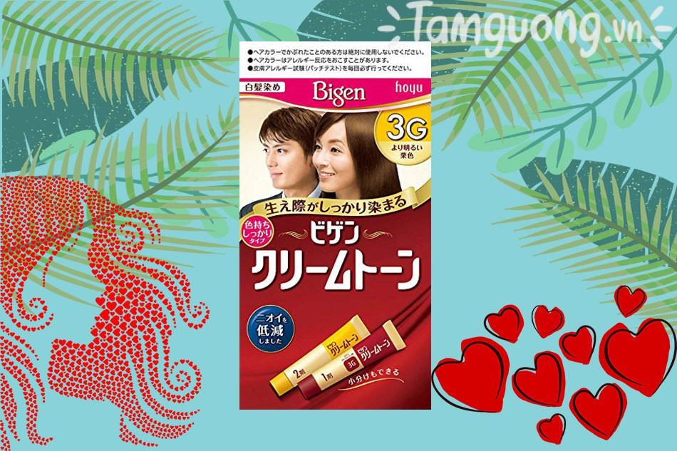 Thuốc nhuộm tóc Bigen 3g - màu nâu sáng