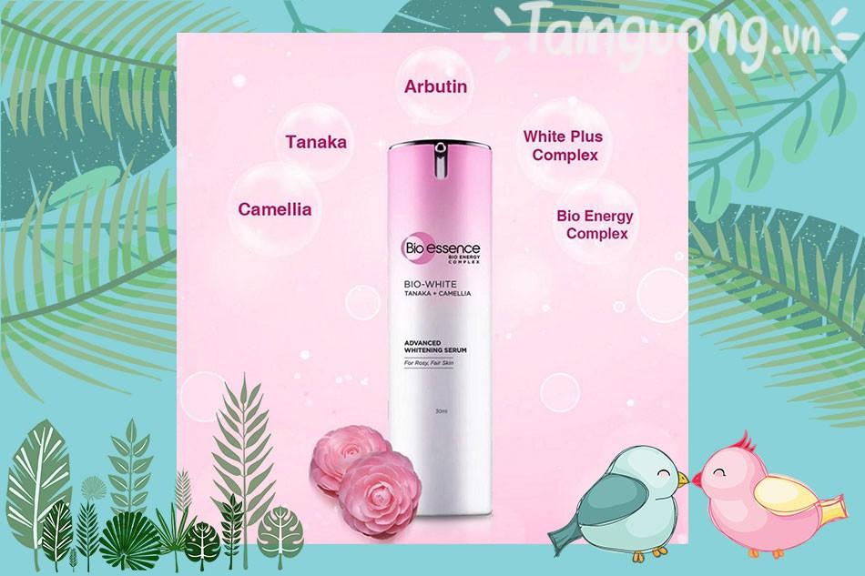Tinh chất dưỡng sáng da Bio Skin White Tanaka Camellia Advance Whitening Serum