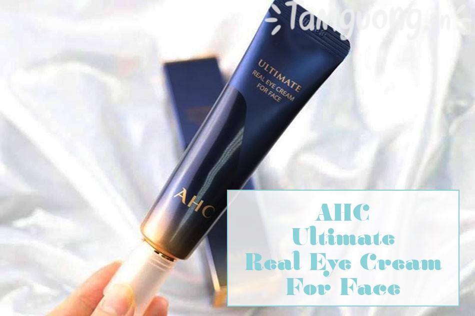 Kem Mắt AHC Ultimate Real Eye Cream For Face - Kem Dưỡng Mắt AHC Xanh