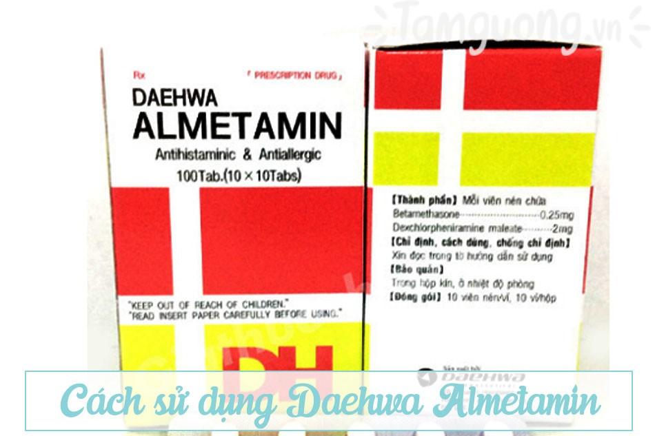 Hướng dẫn sử dụng Daehwa Almetamin