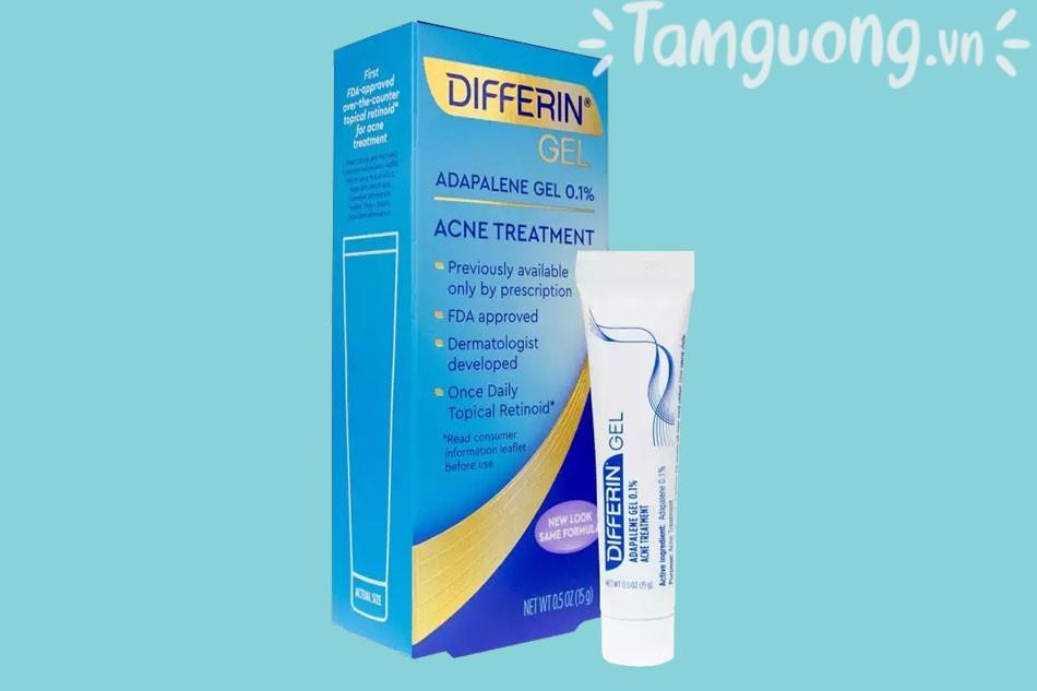 Tác dụng phụ của Differin Acne Treatment Gel