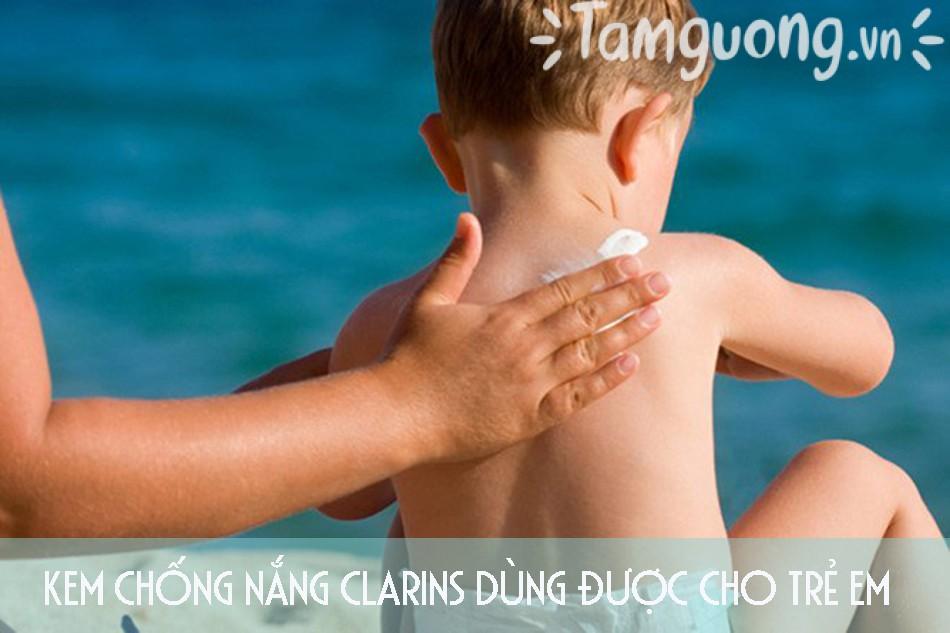 Kem chống nắng Clarins dùng được cho trẻ em
