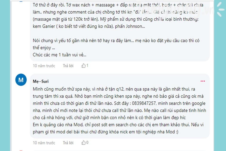 Review Kim Chi Spa webtretho