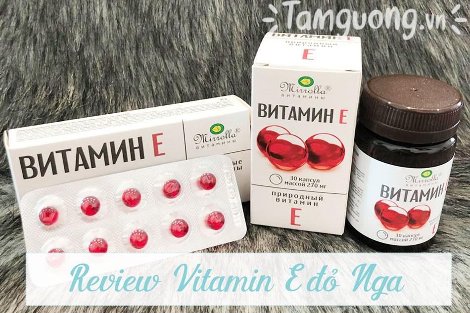 Một số review về Vitamin E đỏ