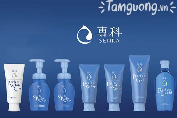 So sánh sữa rửa mặt Senka Perfect White Clay với các loại cùng hãng