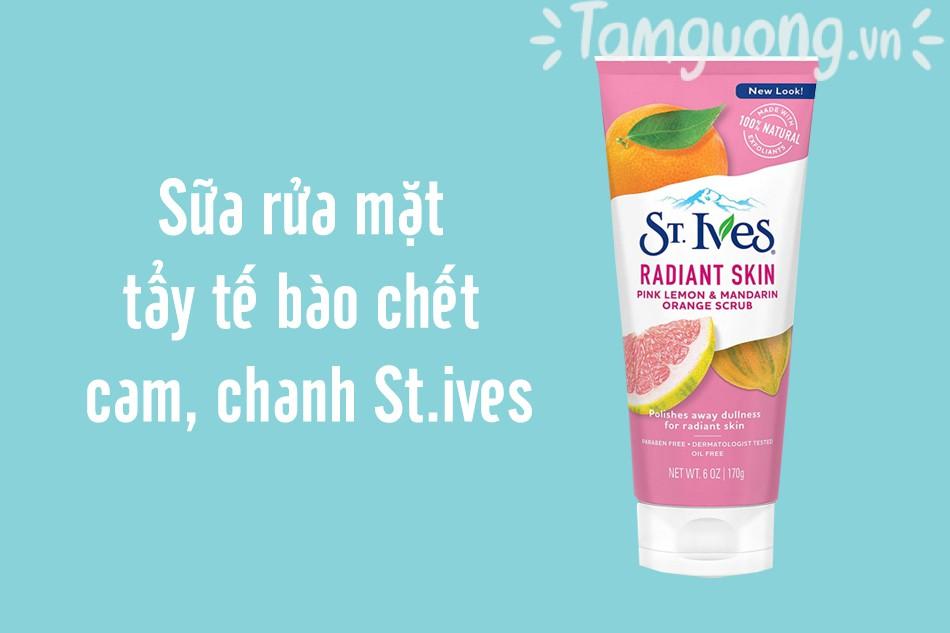 Sữa rửa mặt tẩy tế bào chết cam, chanh St.ives