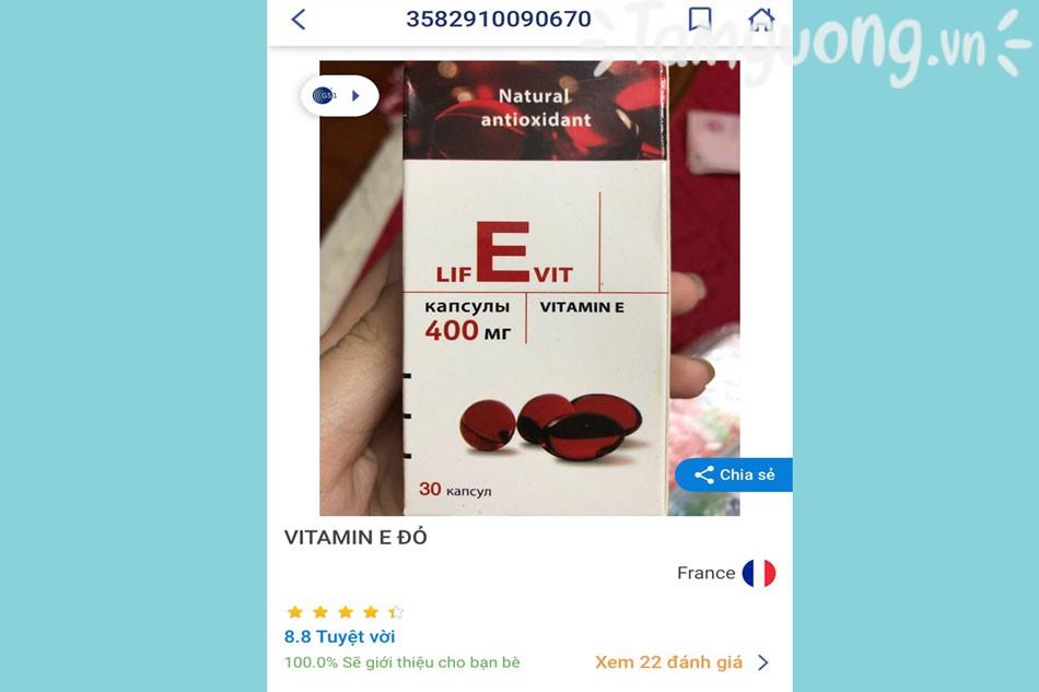 Phân biệt thật giả Vitamin E đỏ của Nga