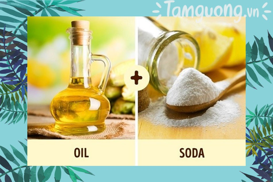 Baking Soda và dầu dừa trị mụn trứng cá
