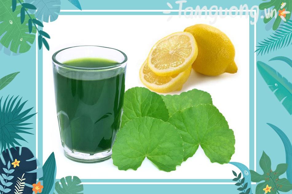 Cách trị mụn cám bằng nước chanh và rau má