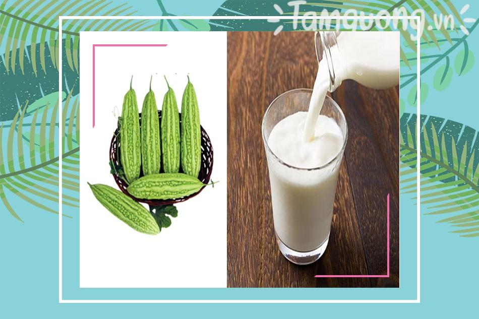 Làm trắng da bằng mướp đắng (khổ qua) kết hợp sữa tươi
