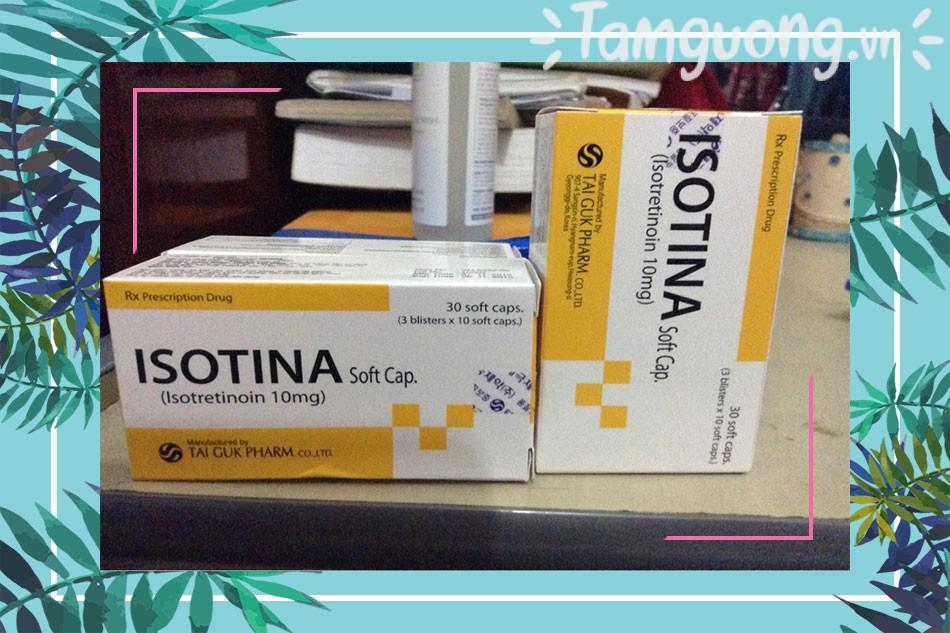 Tác dụng phụ của thuốc Isotina