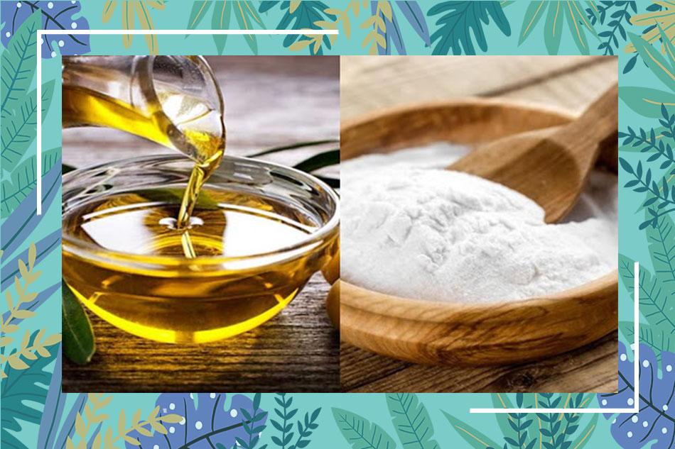 Trị mụn, dưỡng da bằng dầu ô liu và baking soda