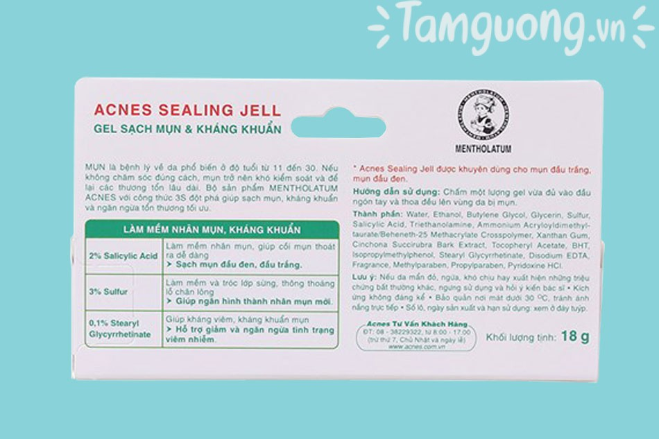 Cách sử dụng gel Acnes Sealing Jell