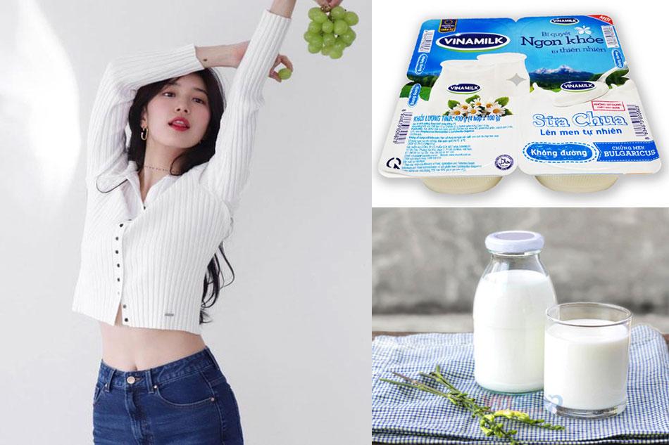 Lưu ý khi giảm cân bằng sữa tươi, sữa chua không đường Vinamilk