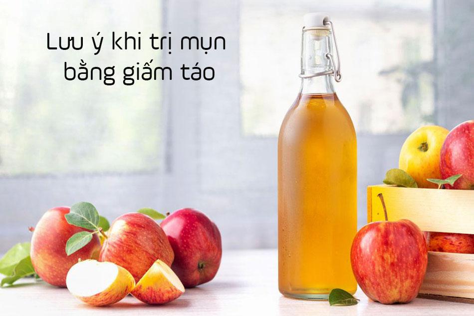 Lưu ý khi trị mụn bằng giấm táo