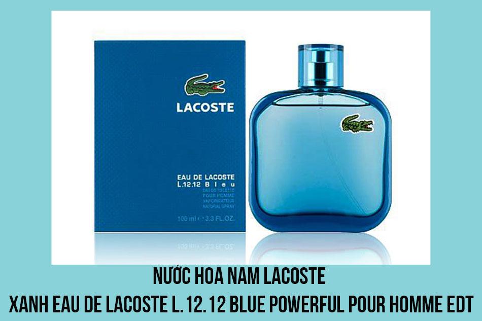 Nước hoa nam Lacoste xanh Eau De Lacoste L.12.12 Blue Powerful Pour Homme EDT