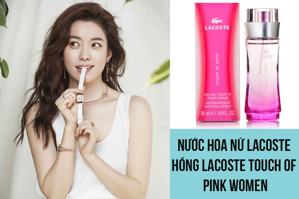 Nước hoa nữ Lacoste hồng Lacoste Touch of Pink Women
