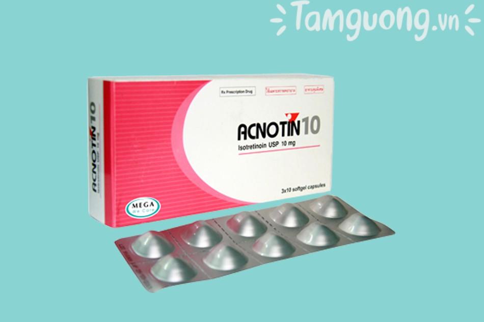 Review thuốc trị mụn trứng cá Acnotin