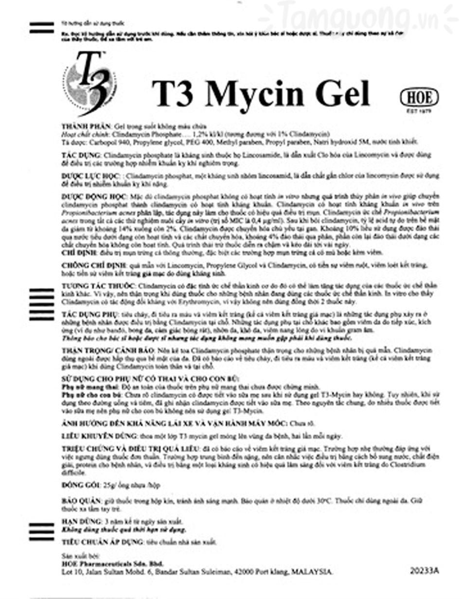 Có nên dùng T3 Mycin không?