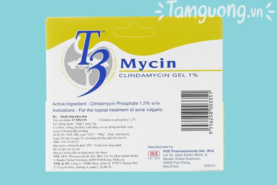 Thuốc T3 Mycin có tác dụng gì?