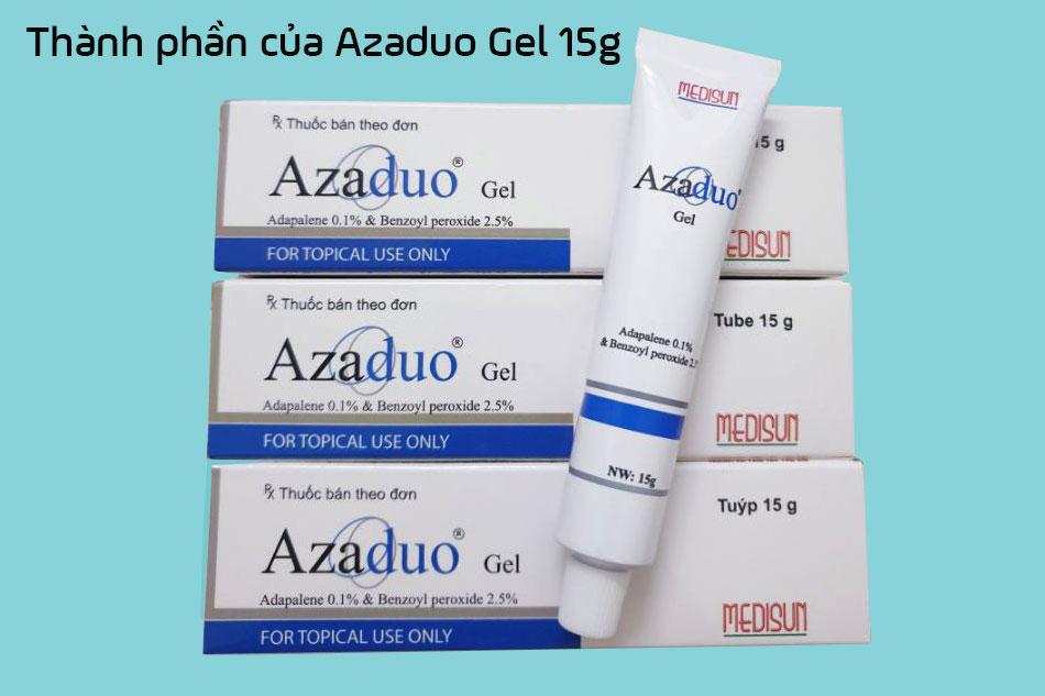 Thành phần của Azaduo Gel 15g