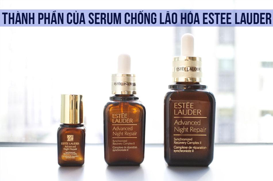 Thành phần của Serum chống lão hóa Estee Lauder