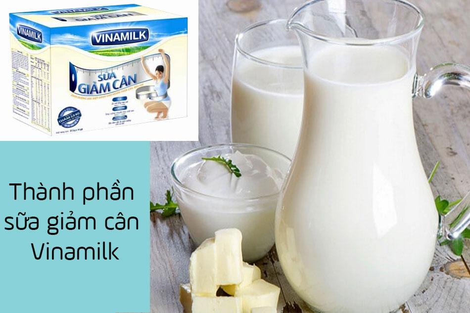 Thành phần của sữa giảm cân Vinamilk